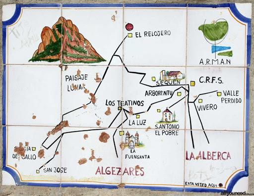 cresta del gallo: mapa